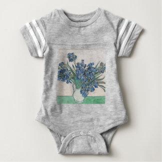 Blue roses baby bodysuit
