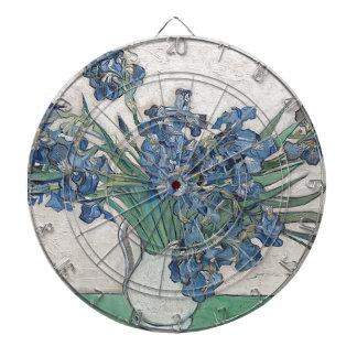 Blue roses dartboard