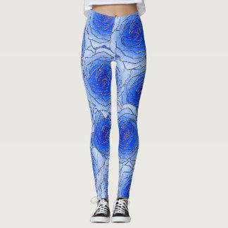 Blue Roses Design Leggings