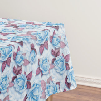 Blue roses. Floral pattern Tablecloth