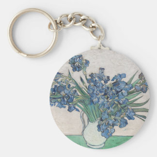 Blue roses keychain