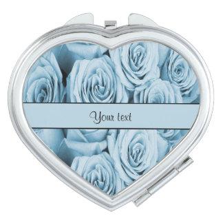 Blue Roses Makeup Mirror
