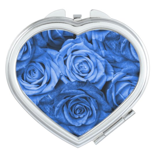 Blue Roses Makeup Mirrors