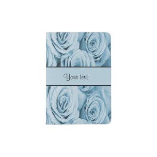 Blue Roses Passport Holder