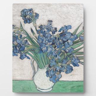 Blue roses plaque