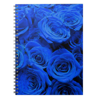 Blue Roses Spiral Note Book