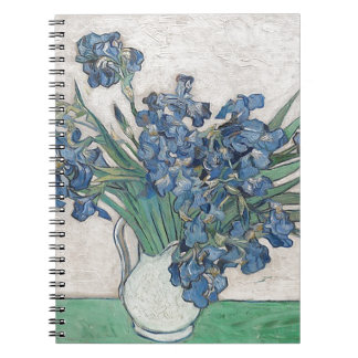 Blue roses spiral notebook