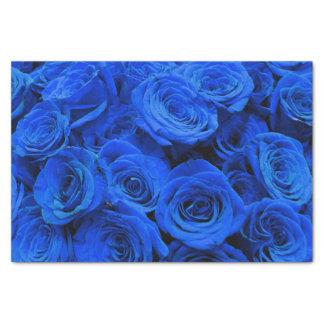 Blue Roses Tissue Paper