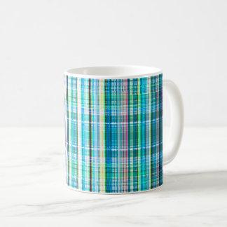 Blue rough stripes pattern coffee mug