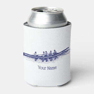 Blue Rowing Rowers Crew Team Water Sports Can Cooler