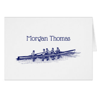 Blue Rowing Rowers Crew Team Water Sports Card