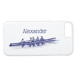 Blue Rowing Rowers Crew Team Water Sports Case-Mate iPhone Case