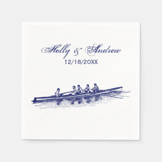 Blue Rowing Rowers Crew Team Water Sports Napkin