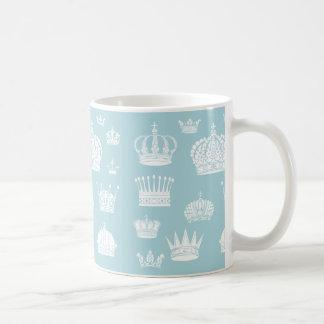 Blue Royal Crown Pattern Mug