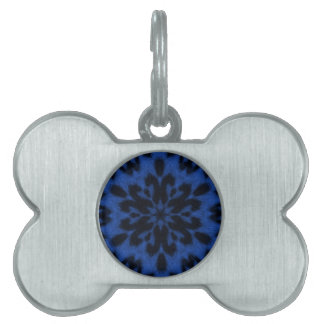 Blue Royale Spotted Leopard Kaleidoscope Pet Name Tags