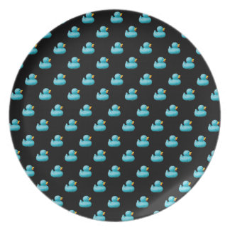 Blue Rubber Ducks Party Plate by storeman