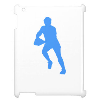 Blue Rugby Player Silhouette Cover For The iPad