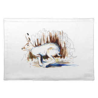 Blue Running Hare Placemat