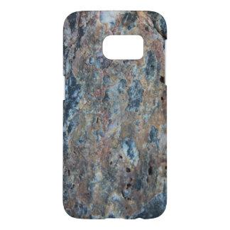 Blue Rust Black Mineral Texture Samsung Galaxy S7 Case