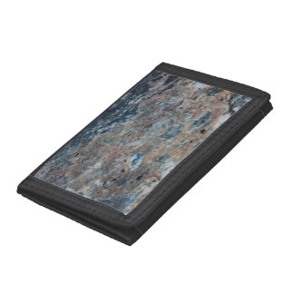 Blue Rust White Mineral Texture Tri-fold Wallets