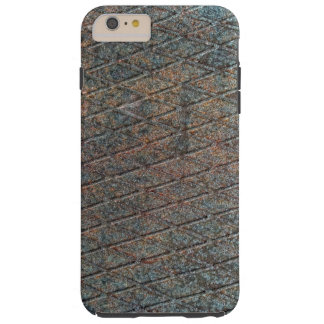 Blue Rusted Diamond Shape Metal Pattern Tough iPhone 6 Plus Case