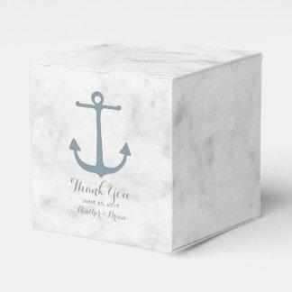 Blue Rustic Anchor Wedding Party Favor Box