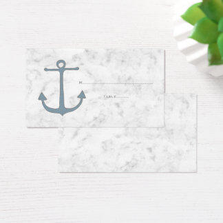 Blue Rustic Anchor Wedding Place Cards