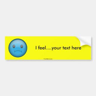 Blue Sad Bumper Sticker