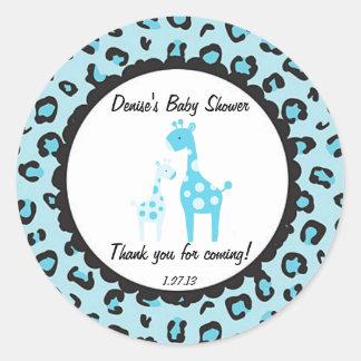 Blue Safari Giraffe Sticker