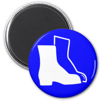 Blue Safety Shoes Magnet