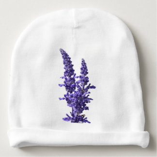 blue sage flour in bloom in spring baby beanie