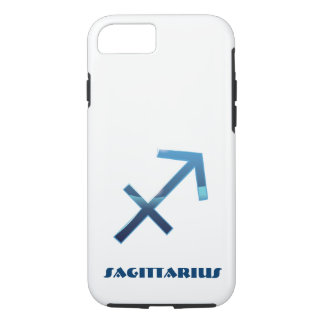 Blue Sagittarius Zodiac Sign On White iPhone 8/7 Case