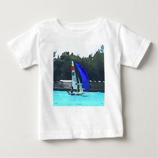 Blue Sailboat Baby T-Shirt