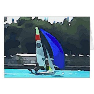 Blue Sailboat Card