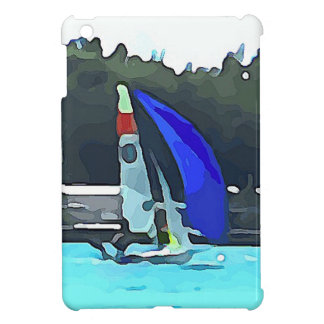 Blue Sailboat Case For The iPad Mini