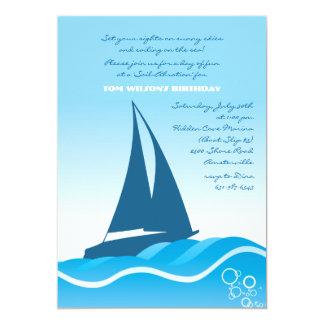 Blue Sailboat Invitation