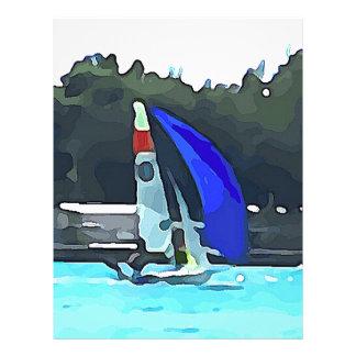 Blue Sailboat Letterhead