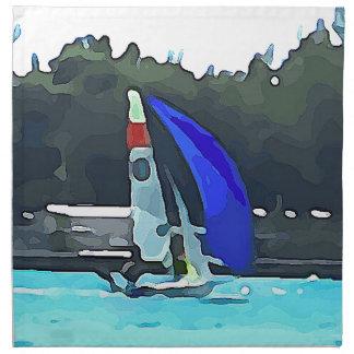 Blue Sailboat Napkin