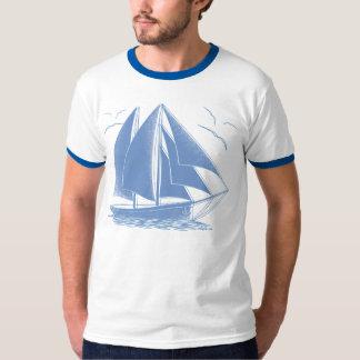 Blue sailboat nautical sailor T-Shirt
