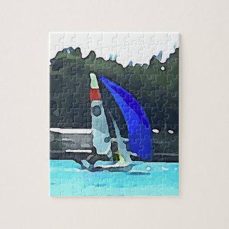 Blue Sailboat Puzzle