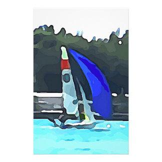 Blue Sailboat Stationery