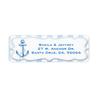 Blue Sailing Anchor Nautical Wedding