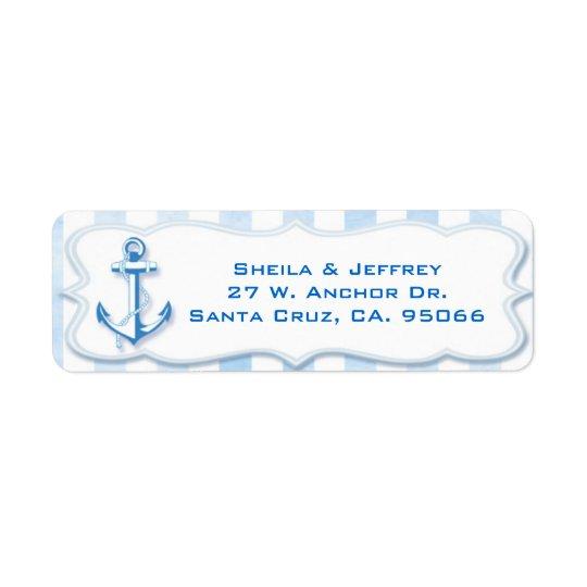 Blue Sailing Anchor Nautical Wedding
