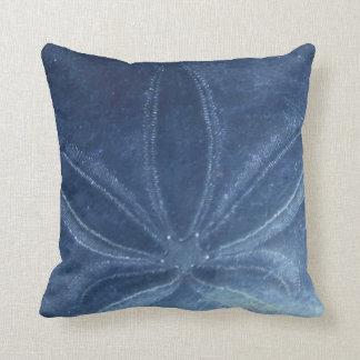 Blue Sand Dollar Throw Pillow