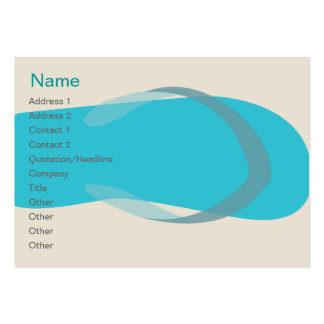 Blue Sandal - Chubby Large Business Cards (Pack Of 100)