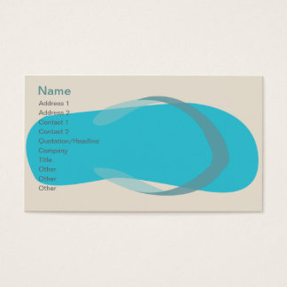 Blue Sandal - Classic Business Card