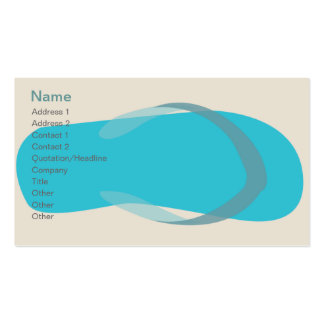Blue Sandal - Classic Pack Of Standard Business Cards