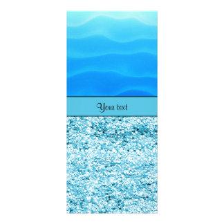 Blue Sands & Glitter Customized Rack Card