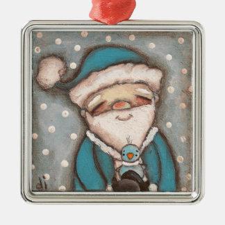 Blue Santa - Ornament