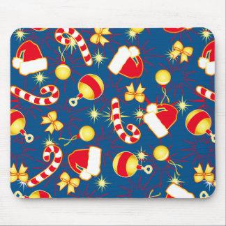 Blue - Santa's cap Mouse Pad